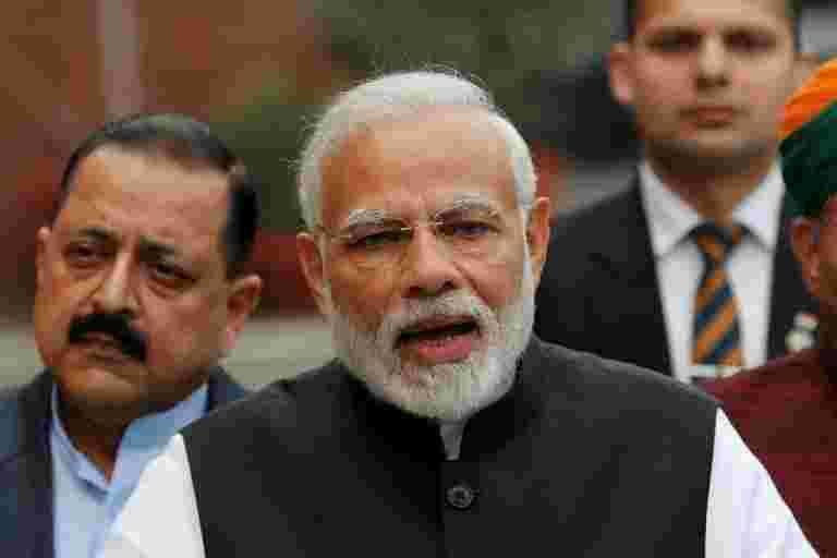 """""""恐怖主义,气候变化在人类之前的最大挑战:PM Modi."""